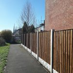 closeboard fencing and concrete posts