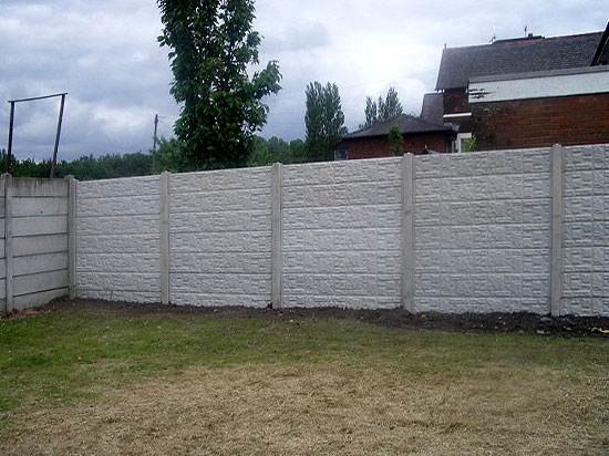 concrete panel fence