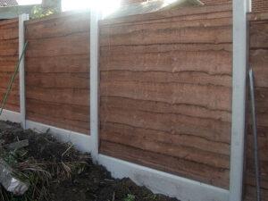 fences with concrete base