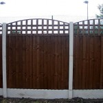 fence with concrete base
