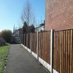 closeboard fencing and concrete posts